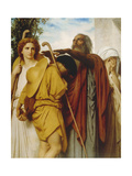 Tobias Receives His Father's Blessing, 1860 Prints by William Adolphe Bouguereau