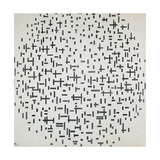 Komposition Mit Linien, 1916 Reproduction procédé giclée par Piet Mondrian