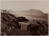Fisherman's Cottages on the Beach of Nervi, 1870-80 Photographic Print by August Alfred Noack