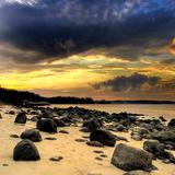 Rocks on Beach Photographic Print
