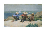 On the Beach Stampa giclée di Winslow Homer