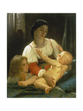 The Awakening Child Posters by William Adolphe Bouguereau