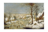 Winter Landscape with Ice-Skaters, after 1565 Giclee Print by Pieter Claesz