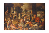 Market Scene with Christ and the Adulteress Giclee Print by Pieter Bruegel the Elder