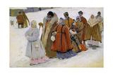 Russische Familie Beim Kirchgang Giclee Print by Severin Roesen