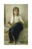 Little Girl Sewing, 1898 Reproduction procédé giclée par William Adolphe Bouguereau