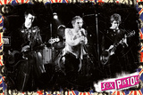 Sex Pistols On Stage Plakat