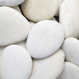 White Pebbles Photographic Print