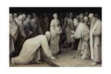 Christ and the Adulteress, 1565 Reproduction procédé giclée par Pieter Bruegel the Elder
