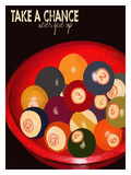 Cueballs Giclee Print by Lisa Weedn