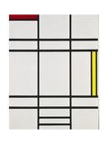 Composition with White, Red and Yellow, 1938-42 Reproduction procédé giclée par Piet Mondrian
