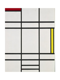 Composition with White, Red and Yellow, 1938-42 Giclée-trykk av Piet Mondrian