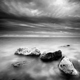 Waves on Rocks Reproduction photographique par  PhotoINC