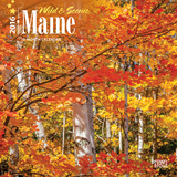 Maine, Wild & Scenic - 2016 Mini Wall Calendar Calendars