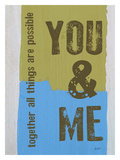 You & Me Giclee Print by Lisa Weedn