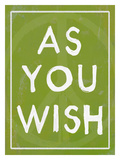 As You Wish Green Giclee Print by Lisa Weedn