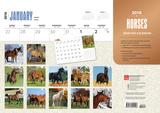 Horses - 2016 Calendar Desk Pad Calendars