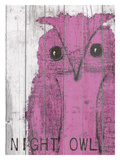 Night Owl Pink Giclee Print by Lisa Weedn