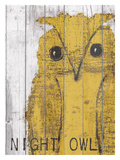 Night Owl Yellow Giclee Print by Lisa Weedn