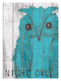 Night Owl Blue Giclee Print by Lisa Weedn