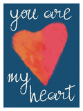 You Are My Heart Blue Giclee Print by Lisa Weedn