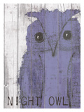Night Owl Purple Giclee Print by Lisa Weedn