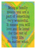 Being A Family Multi Color Giclee Print by Lisa Weedn