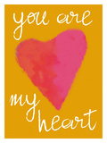 You Are My Heart Gold Giclee Print by Lisa Weedn