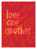 Love One Another Red Giclee Print by Lisa Weedn