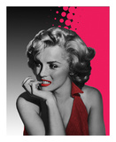 Marilyn Pink Prints by Jerry Michael
