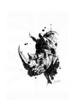 Inked Rhino Giclée-tryk af James Grey
