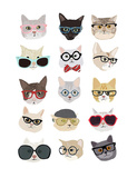 Cats with Glasses Poster by Hanna Melin
