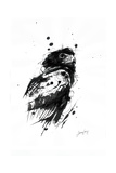 Inked Eagle Giclée-Druck von James Grey