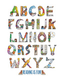 Reading Is Fun! Poster af Doug Keith