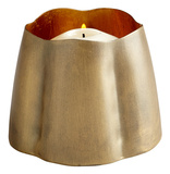 Fortuna Brass Candleholder - Small Home Accessories