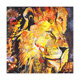 Golden Lion Giclee Print by James Grey