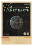 Visit Planet Earth Posters by Hannes Beer