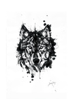 Inked Wolf Giclee Print by James Grey