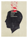 Never Stop Learning Art by Hannes Beer