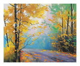 Graham Gercken - Misty Autumn Day Obrazy