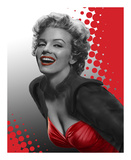 Marilyn Red Prints by Chris Consani