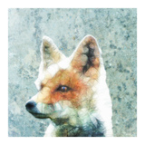 Abstract Fox Poster by  Ancello
