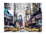 Time Square Giclée-Druck von James Grey