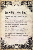 Deathnote - Rules Prints