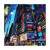 City Night Giclee Print by James Grey