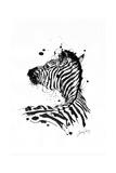 Inked Zebra Plakater af James Grey