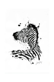 Inked Zebra Giclee Print by James Grey