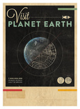 Visit Planet Earth Poster by Hannes Beer