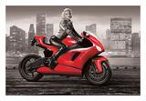 Marilyn's Motorcycle Posters by JJ Brando