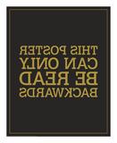 Backwards Affiches par JJ Brando